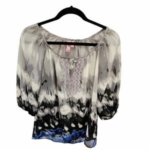 Dolled Up Tie Dye Blouse, Size M
